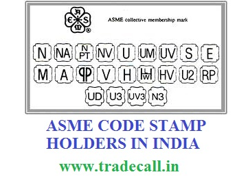 ASME Code Stamp And Certificate Holders In India